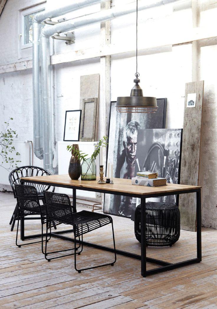 10x industrieel zwart staal in huis