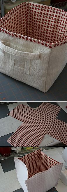 (+1) тема - Корзина из ткани | СВОИМИ РУКАМИ
