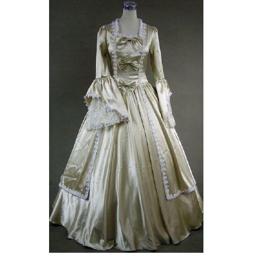 42 Best Renaissance Wedding Dress Images On Pinterest: Gold Long Sleeve Medieval Renaissance Victorian Gothic