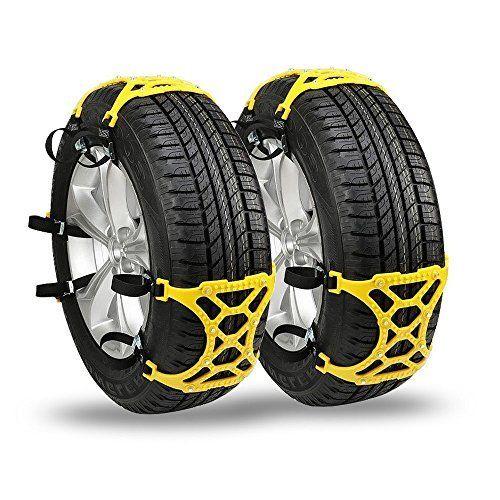 Chaînes à neige, Automotive Neige Pneu Chaînes antidérapante Chaînes à neige pour pneus de voiture [Lot de 6pcs]: Excellent chaînes à…
