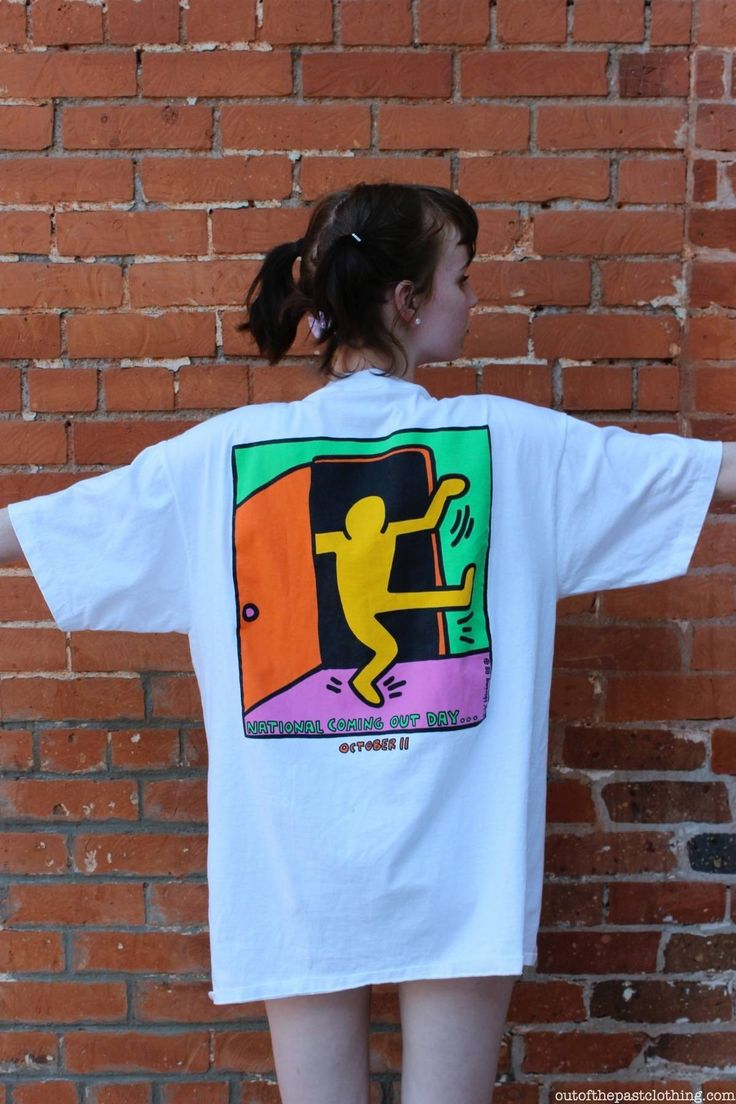 Keith Haring 1988 National Coming Out Day T-Shirt, size XL