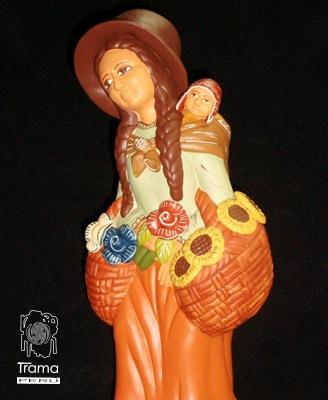 La Florista campesina.  #cerámica  #peruvian #costumbre #andino #peru #art #sell