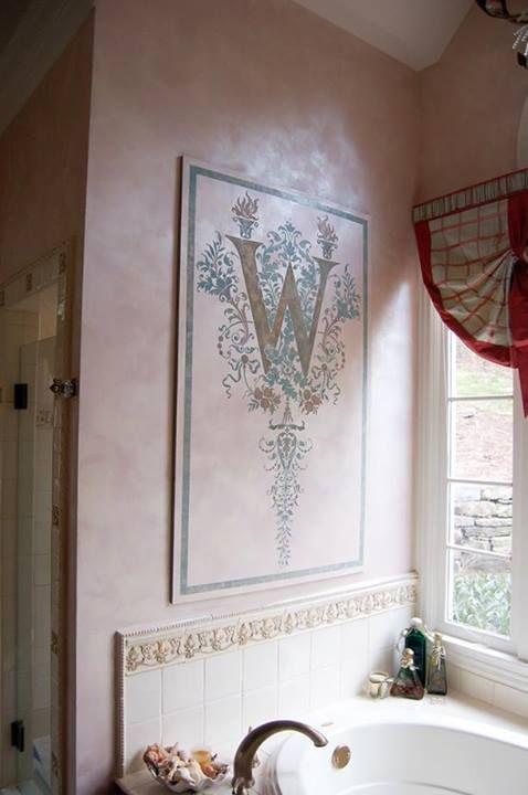 Monogram Stencil Wall Art | Modello® Designs Monogram Stencil (MonW8) | Project by Lorna Soble of The Painted Dragon