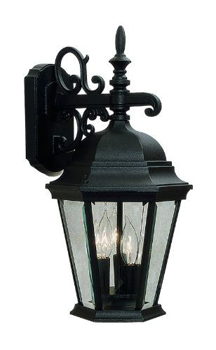Livex Lighting 756004 Hamilton 3 Light Black Cast Aluminum Outdoor Wall Lantern with Clear Beveled Glass ** You can find out more details at the link of the image.