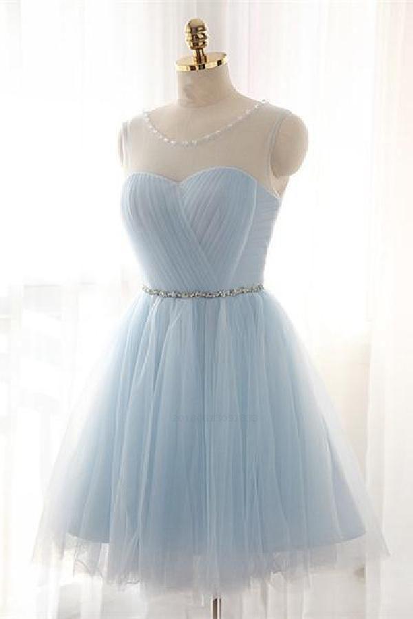 Light Blue Homecoming Dress 49e54e448
