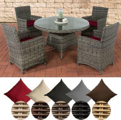 Polyrattan Sitzgruppe PINELLA grau-meliert (4 Stühle + Tisch 130x130 cm) INKL. Sitzkissen, Premiumqualität: 5mm Rundrattan Jetzt bestellen unter: https://moebel.ladendirekt.de/garten/gartenmoebel/gartenmoebel-set/?uid=b27f4850-880f-57ed-a3cb-394fa2e793b7&utm_source=pinterest&utm_medium=pin&utm_campaign=boards #garten #gartenmoebel #gartenmoebelset
