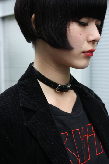 Dark Knight Amelie bob cut
