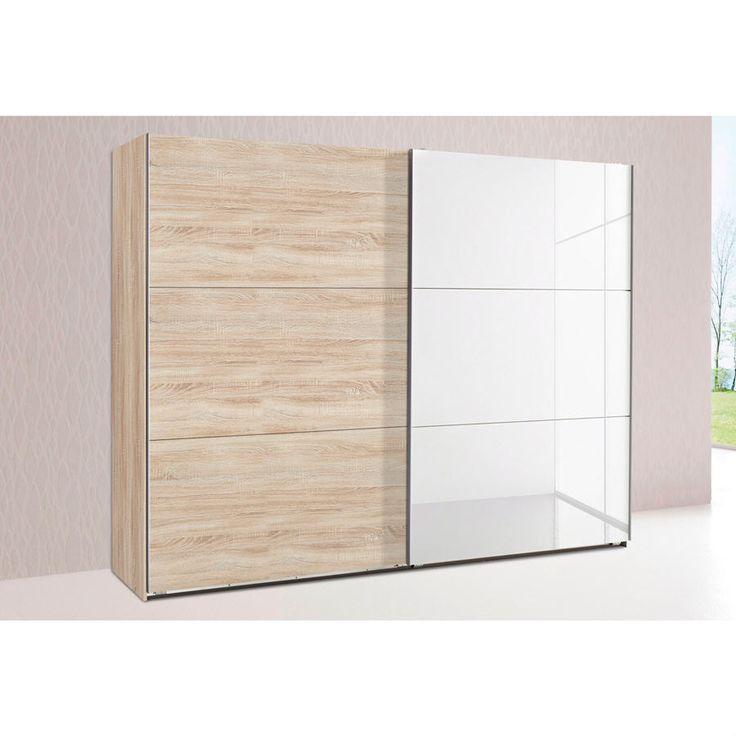 Amazing dressing penderie ou portes dont avec miroir for Armoire penderie petite profondeur