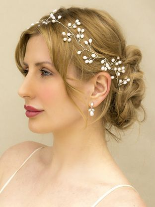 Swell 1000 Ideas About Wedding Headband Hairstyles On Pinterest Hairstyles For Women Draintrainus