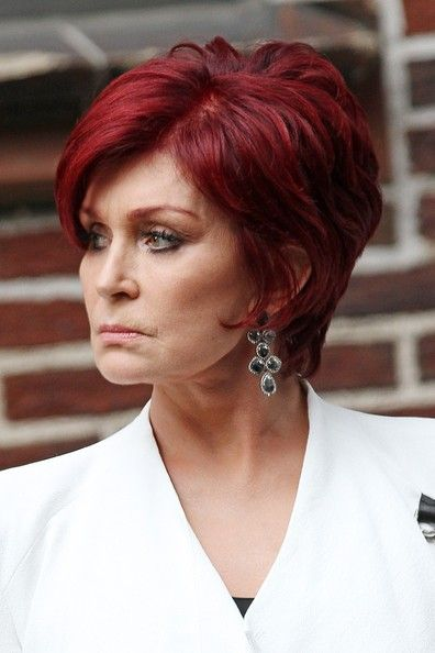 Not the best pic of Sharon, but a great pic of her hair.