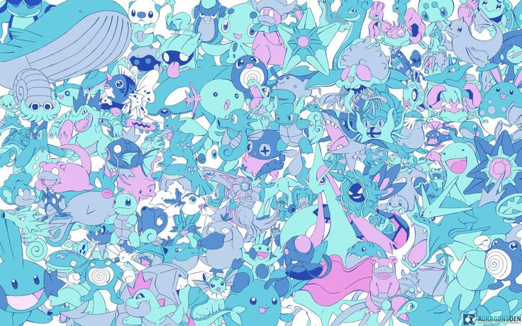 Water type pokemon pokemon art pinterest animals for All types of water