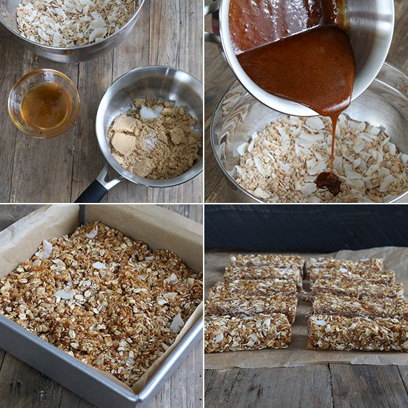 No Bake Gluten Free Granola Bars step by step