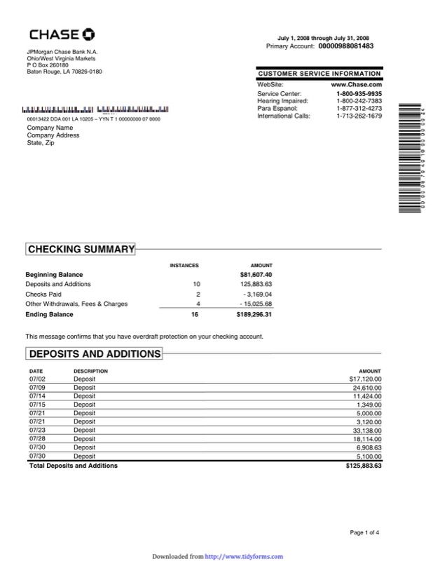 Free Bank Statement Template Like Slot Machines Pinterest - Sample Partnership Agreement