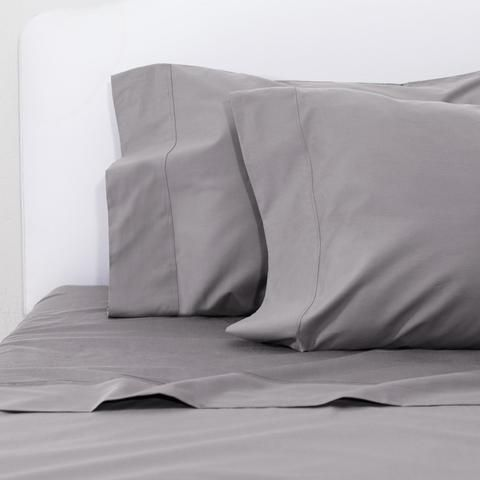 Bedroom inspiration and bedding decor | The Grey 400 Thread Count Sheetss | Crane and Canopy