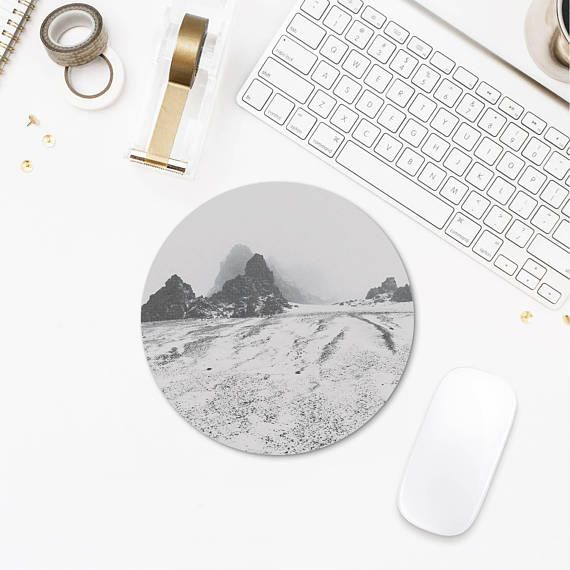 Winter Photography Round Mousepad Iceland Photography