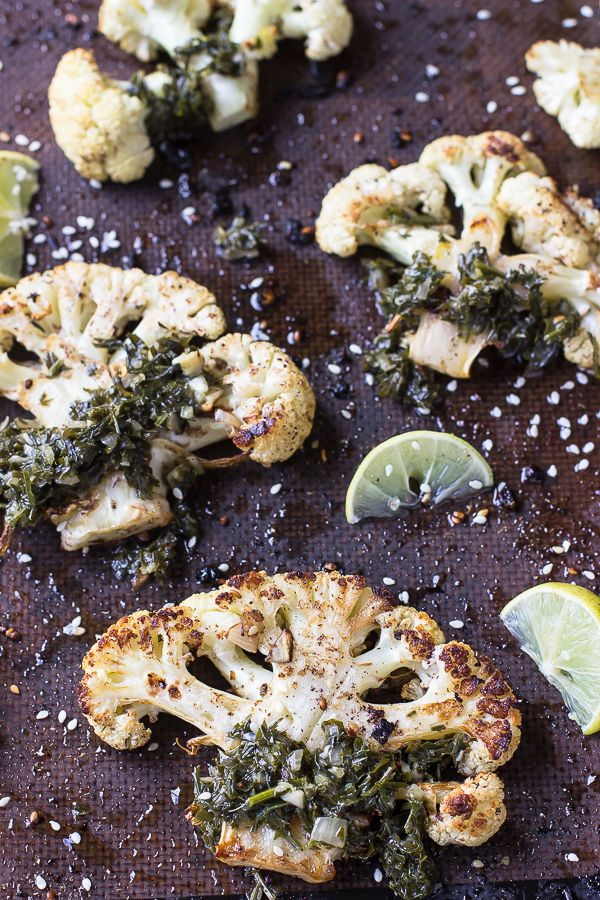 Get ready for a new kind of steak! These Za'atar Roasted Cauliflower Steaks are beautifully roasted, tender and insanely flavorful!