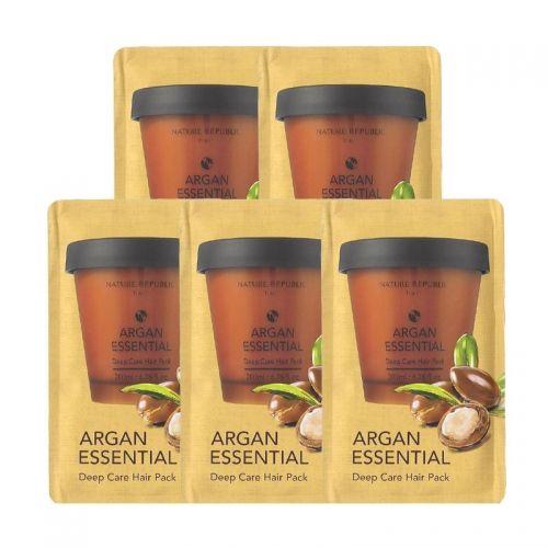 Nature Republic Argan Essential Deep Care Hair Pack 5pcs