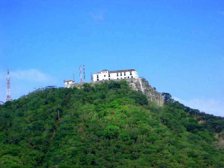 Old monastery La Popa which overlooks Cartagena Bay and which represents much of Cartagena's history, Colombia.
