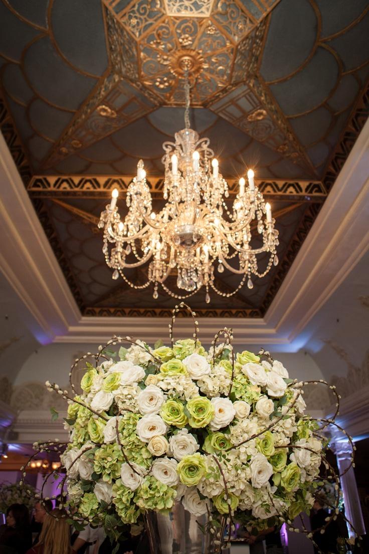 Weddings by Harrods: Harrods' Luxury Wedding Planner Service. Photo by Filmatography. #chandelier #flowers #wedding
