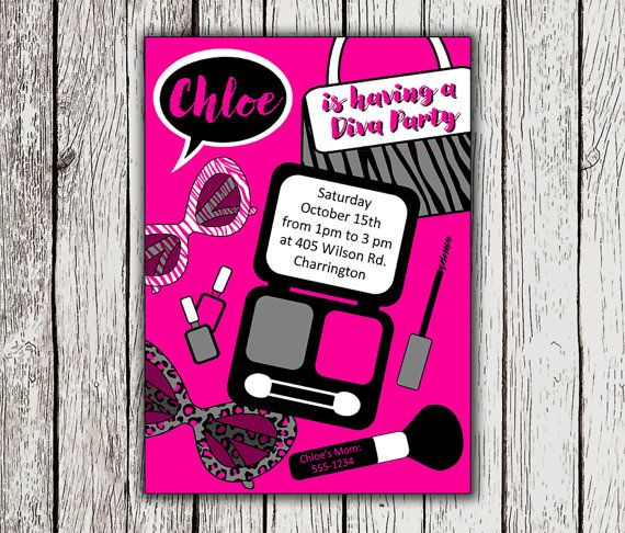 7 best images about Diva Party – Diva Party Invitations
