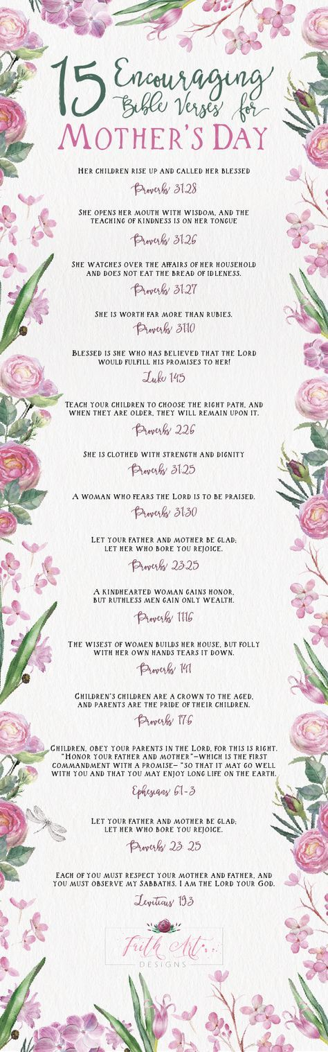 15 Encouraging Bible Verses for Mother's Day