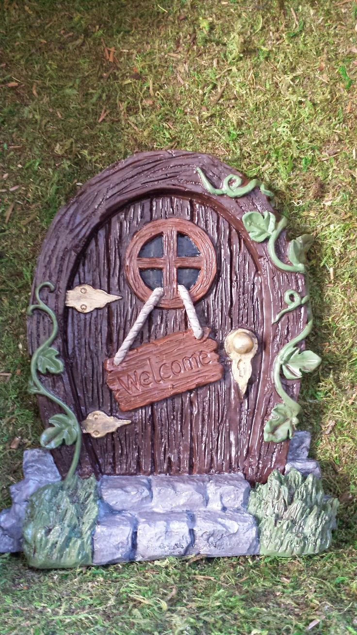 Large fairy door fairy doors gnome doors pinterest for Large gnome doors