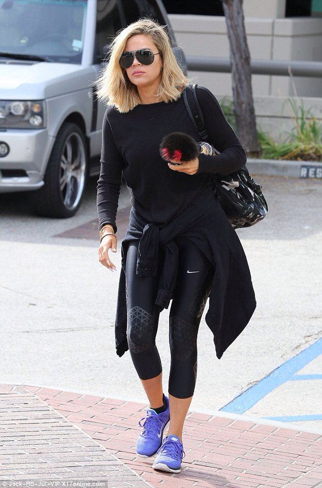 Khloe Gym Looks: Athleisure