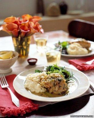 Chicken Tarragon Menu