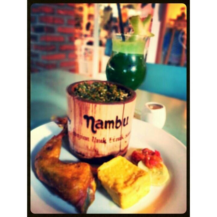 nambu-nasi bambu dan green krang kring at cafe krang kring, bandung *tempatnya asik abiis bwt nongkrong. tp harganya rada krg pas dikantong. heho*