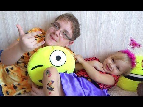 Алиса делает ДЕТСКИЕ ТАТУИРОВКИ Развлечение для детей Entertainment for ...
