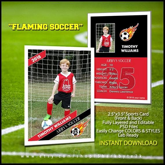 Soccer Player Cards Template Awesome 2017 Soccer Card Template Perfect For Trading Cards For Your In 2020 Trading Card Template Football Trading Cards Soccer Cards