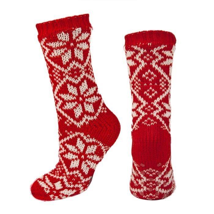 Skarpety SOXO dziane w nordyckie wzory z ABS, KOBIETY \ Skarpety sklep online