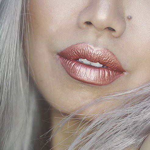 "NYX Cosmic Metals Lipstick ""Speed of Light"". Gorgeous metallic lipstick! Pinterest: @framboesablog"