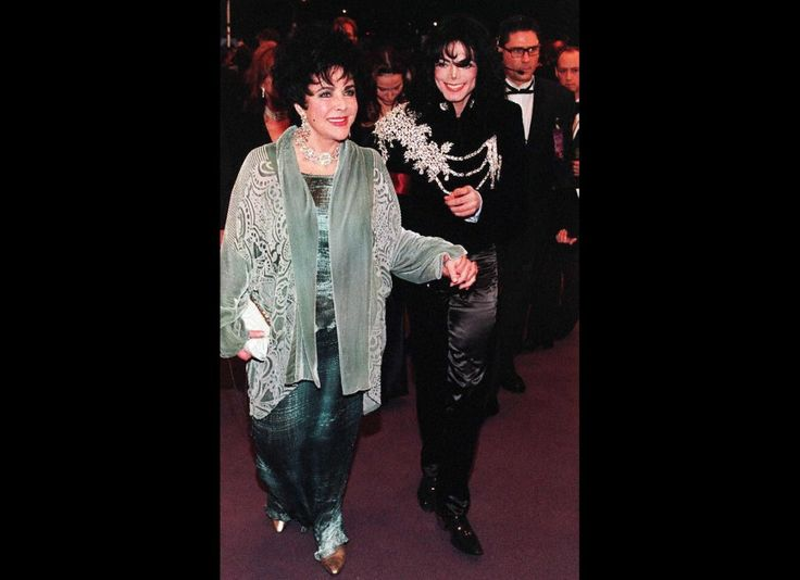 MJ and Liz Taylor arriving at her birthday party!