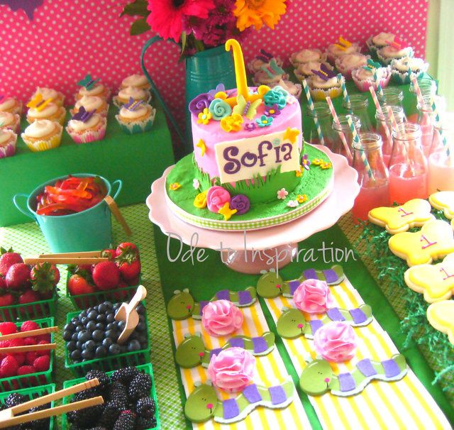 Garden Of Flowers And Berries Birthday Party Ideas