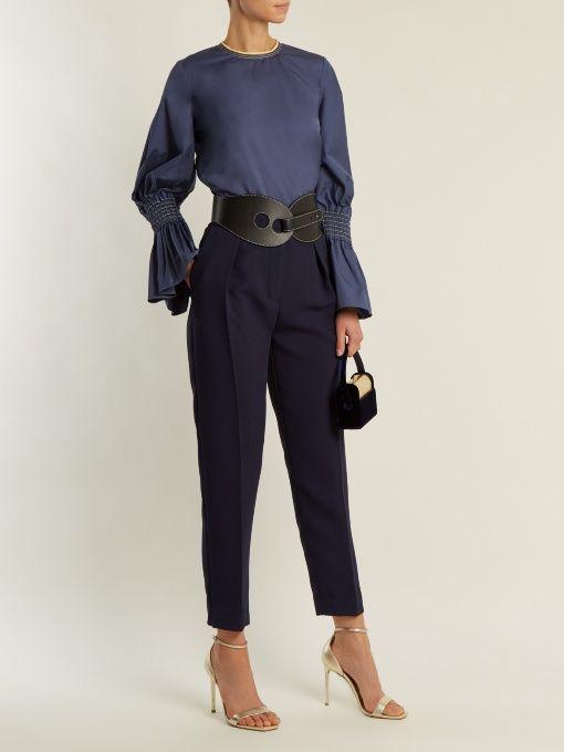 Roksanda Surikov high-rise peg-leg trousers