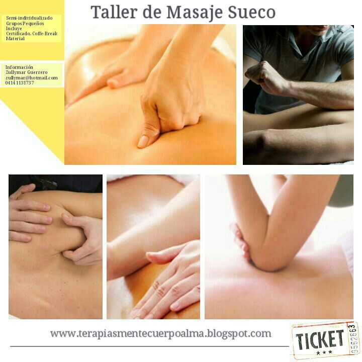 Taller de masaje sueco