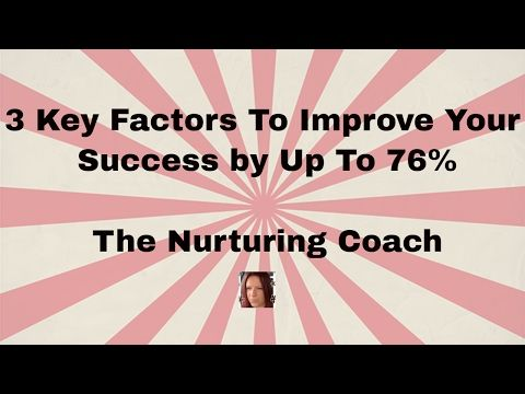 3 Key Factors To Improve Your Success By Up To 76%