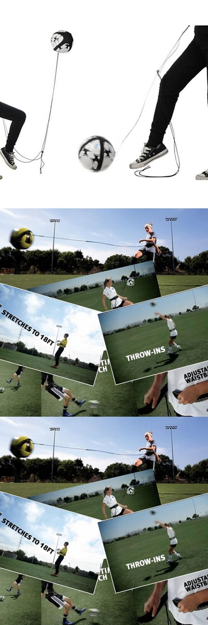 [Visit to Buy] Football Kick Trainer Skills Solo Soccer Training Aid Equipment WaistBelt #Advertisement
