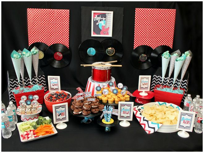 Rock And Roll Baby Shower Decorations  Printable Rocker Party Decorations  PDF/JPEG  As Seen On Pizzazzerie