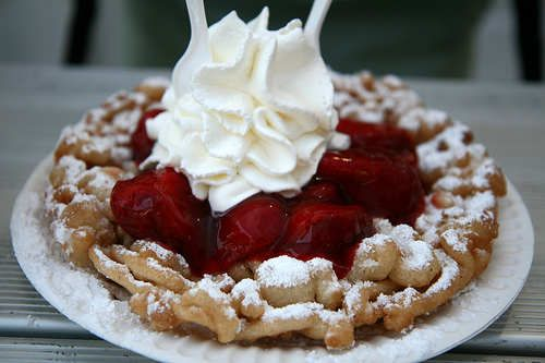 Funnel Cake that they ate in the park!!! =) It looks delicious...
