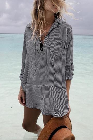 Bikini Long Sleeves Vacation Dress Cover Ups 2