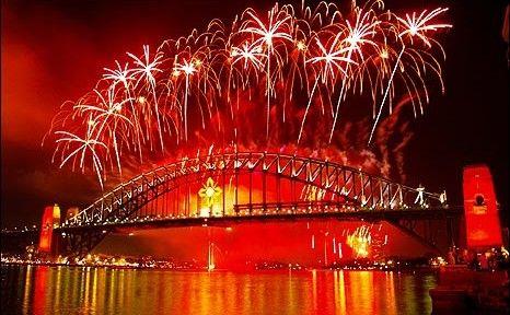 Sydney Harbour Bridge New Years Eve fireworks...kind of a big deal !