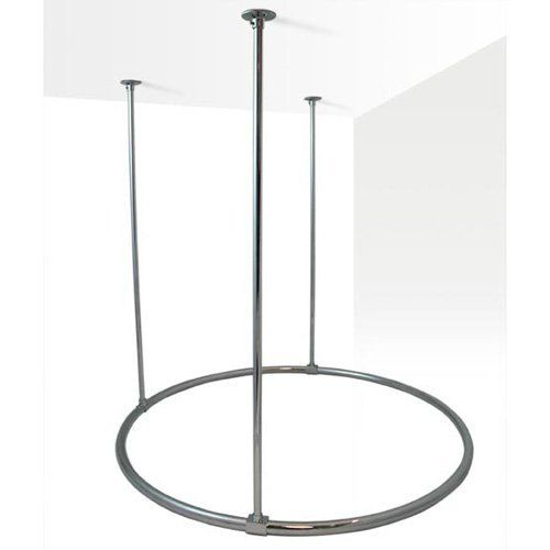 """36"""" Round Shower Curtain Ring - Polished & Lacquered Brass by Nottingham Brass. $259.95. This 36 round shower is made from 1 OD solid brass materials. The ring comes complete with three 5/8 od x 36 long ceiling supports. Available in Chrome, Brushed Nickel, Polished Brass and Oil Rubbed Bronze. Measures 36 diameter. 1 OD solid brass material. Includes three 5/8 x 36 ceiling supports. Supports can be cut to size at installation. Two of the supports are fixed in placed..."""