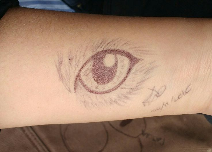 Beautiful eye on a beautiful and unique person