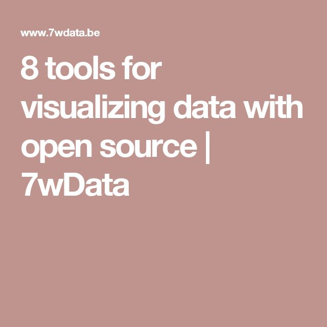 8 tools for visualizing data with open source | 7wData