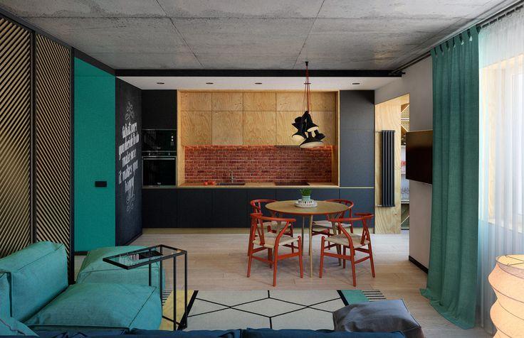 Бетон, кирпич и фанера - ALNO. Современные кухни: дизайн и эргономика | PINWIN - конкурсы для архитекторов, дизайнеров, декораторов