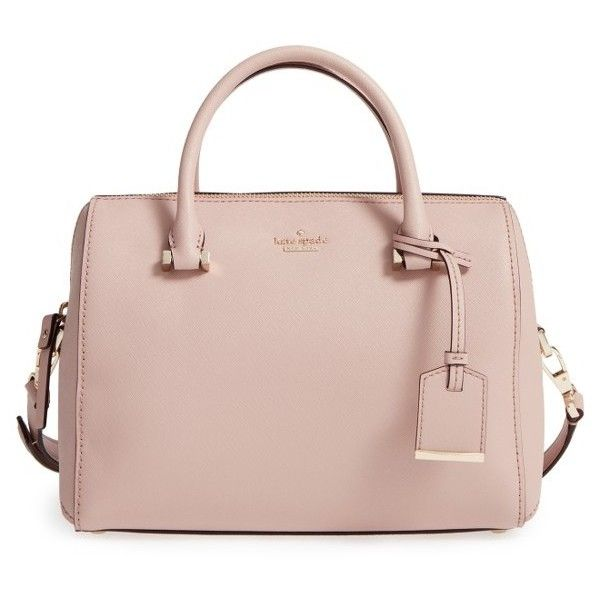 Womens Kate Spade New York Cameron Street Large Lane Leather Satchel (£220) ❤ liked on Polyvore featuring bags, handbags, toasted wheat, leather handbags, pink handbags, pink satchel handbags, genuine leather handbags and kate spade purses