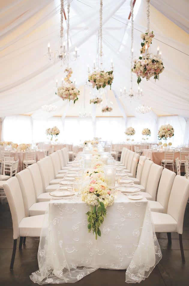 29 best floral table runners images on pinterest wedding pink and white wedding reception tent decor lovely elegant with floral junglespirit Image collections