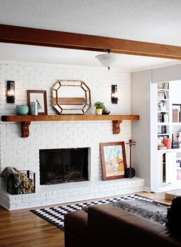 To Break Up An All White Floor To Ceiling Fireplace